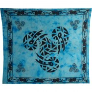 Maxi tenture bleue triskell serpent