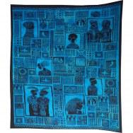 Maxi tenture patchwork africa bleu
