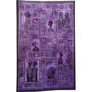Tenture patchwork africa violette