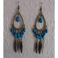 Boucles d'oreilles Akhas turquoises