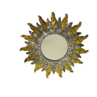 Miroir d'or et d'argent