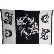 Tenture noir et blanc Komodo