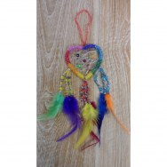 Dreamcatcher coeur 7  perles rainbow