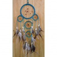 Dreamcatcher 12 cree 5 cercles bleu