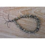 Bracelet mala en jaspe dalmatien