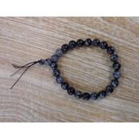 Bracelet mala en obsidienne snow flake
