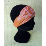 Bandeau cheveux orange brodé