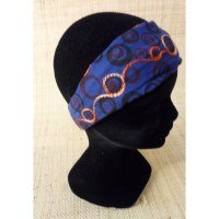Bandeau cheveux peace and love marine