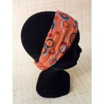 Bandeau cheveux peace and love orange