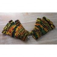 Mitaines en laine multicolore rasta