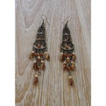 Pendants d'oreilles assaki marron