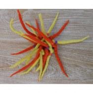Chouchou laine bouillie jaune/orange
