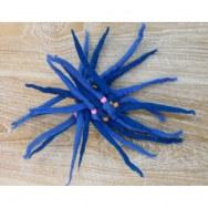 Chouchou laine bouillie bleu foncé