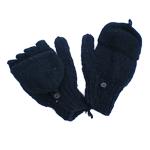 Mi-moufles noires