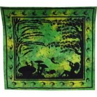 Tenture maxi au pays merveilleux vert