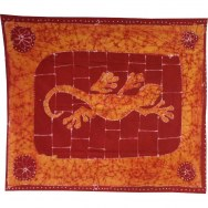 Tenture batik salamandre