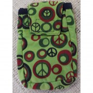Pochette smartphone verte peace & love