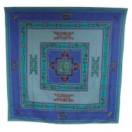 Tenture Chitwan mandala turquoise