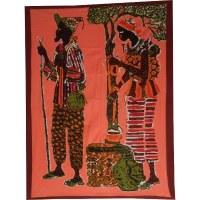 Tenture batik les africains
