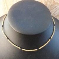 Collier ras de cou mini perles bicolores