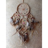 Dreamcatcher 5 cercles mahpe beige