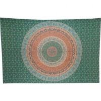 Tenture tapis floral vert