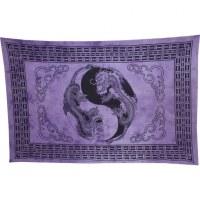 Tenture les 2 dragons yin yang violet
