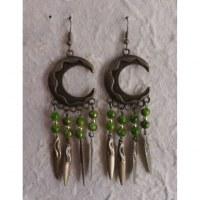 Pendants d'oreilles Chantira vert