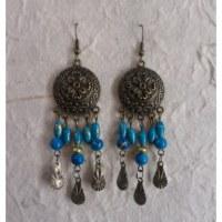 Boucles d'oreilles Sumalee bleu turquoise