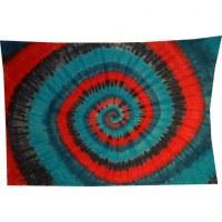Tenture hypnotika bleu/gris/rouge