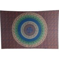 Tenture tapis floral marine