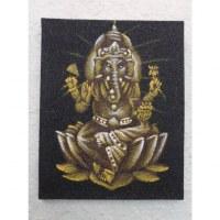 Tableau noir/jaune Ganesh