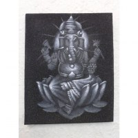 Tableau noir/gris Ganesh
