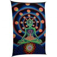 Tenture fluo martien yogi