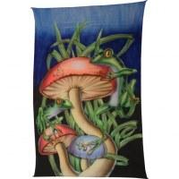Tenture fluo les grenouilles et les champignons