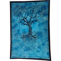 Tenture bleue arbre de vie celtique