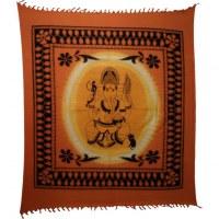 Tenture maxi bandhani Ganesh et son rat