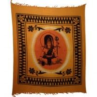 Maxi tenture bandhani rond dieu Shiva et son trident