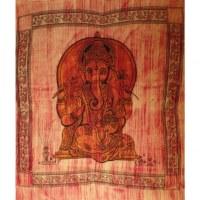 Grande tenture striée Ganesh