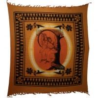 Maxi tenture bandhani Krishna et Radha
