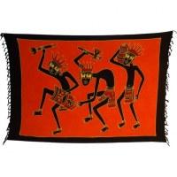 Mini tenture papou dance orange