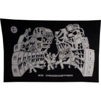 Tenture tekos production noir et blanc