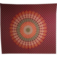 Tenture maxi bordeaux phool