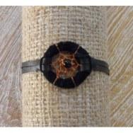 Bracelet dreamcatcher cuir noir