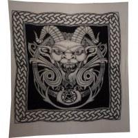 Tenture maxi noire et blanc diablo