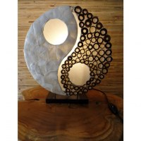 Lampe ronde yin yang