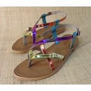 Sandales Tropéziennes Hiboux multicolore