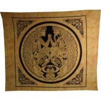 Tenture maxi jaune le couple celte et les dragons