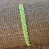 Bracelet flachy jaune macramé 4