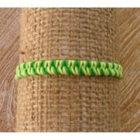Bracelet flashy vert/jaune macramé 6